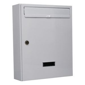 wall mounted post box in white