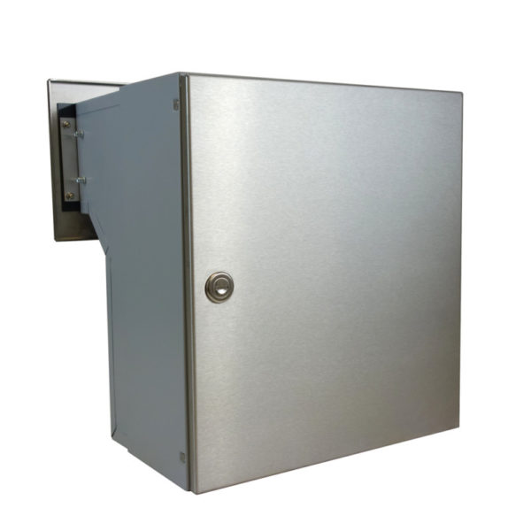 LFD-04 Stainless steel through the wall letterbox rear view