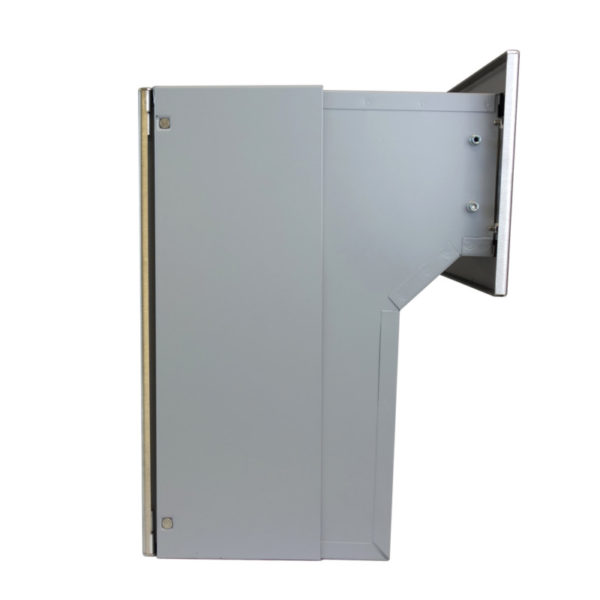 LFD-04 Stainless steel through the wall letterbox side view