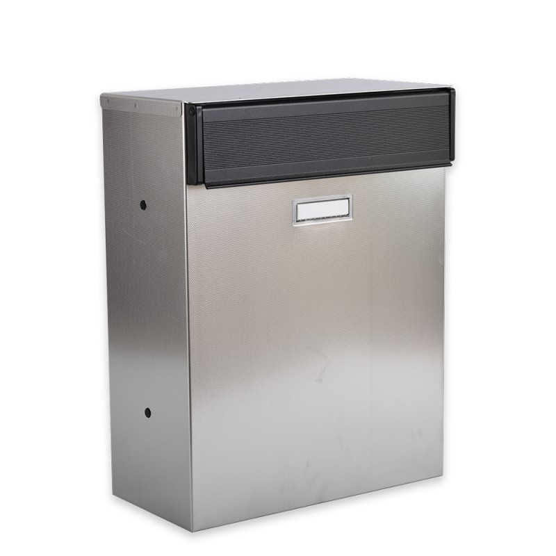 Letterbox Uk: Magnum Patterned Stainless Steel Rear Access Post Box