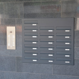 Rear access letterboxes