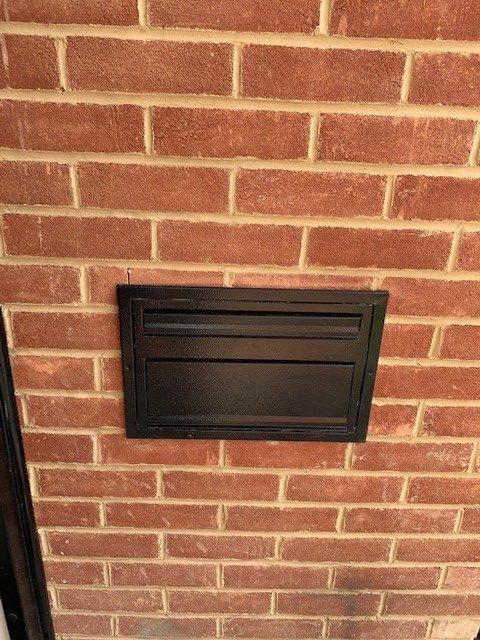 parcel box through the wall