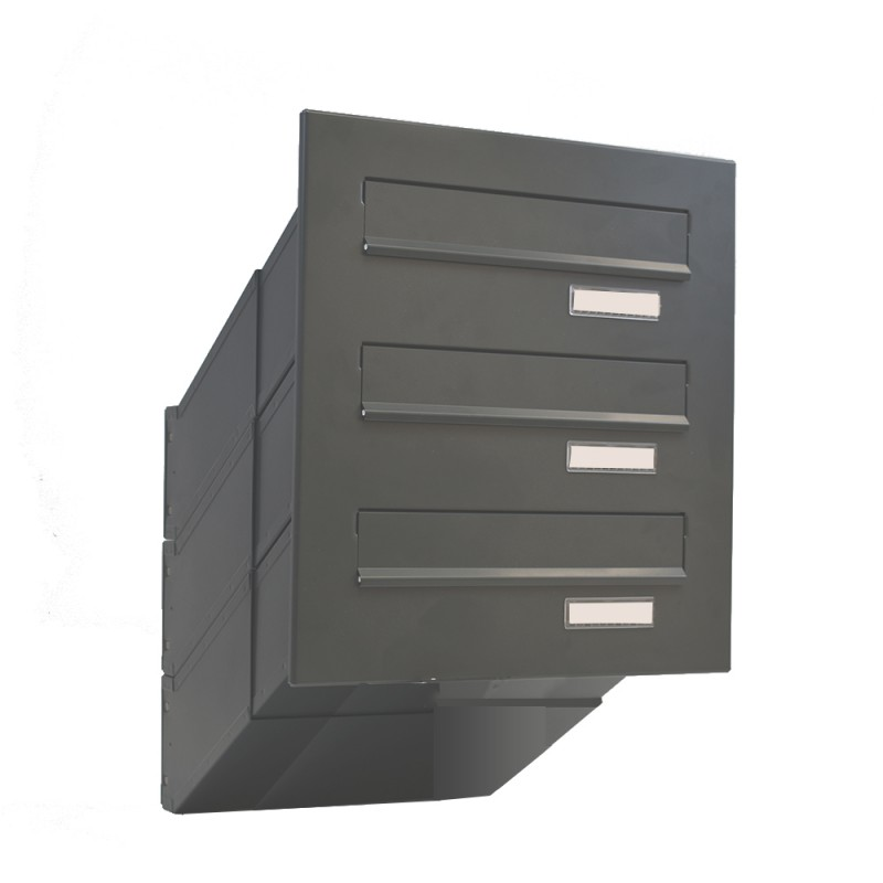 lDd-041 Multiple Front Lighter though the wall communal letterbox