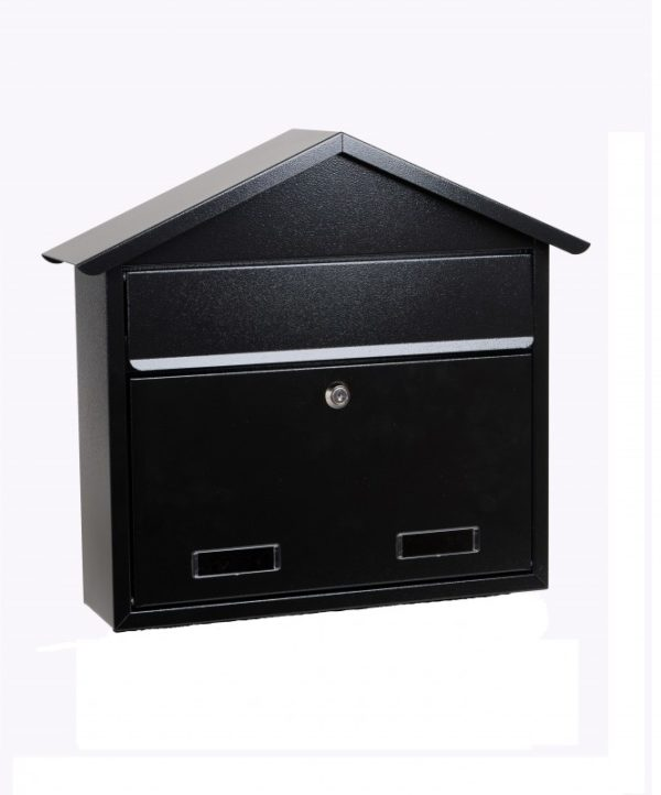 Black mailbox for outside mounting