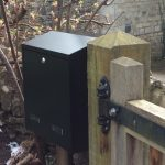 Gate Post Box Mounted On Side Gate Post
