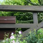 Gate Post Box Mounted On 5 Bar Wooden Gate