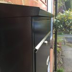 SD5 Metal Post Box mounted outside a customers front door