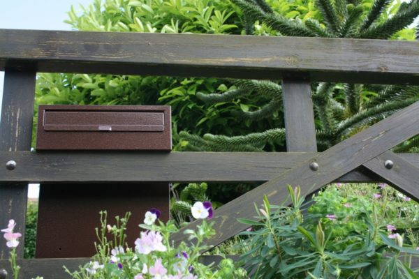 W3-2 Metal Post Box mounted on a 5 bar wooden gate