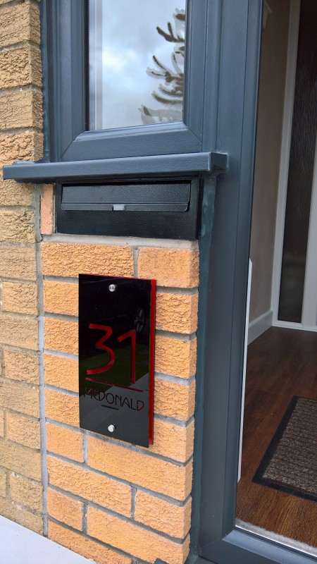 Rear Access Letter Box.Rear Access Post Box Range Gate And Through The Wall Post
