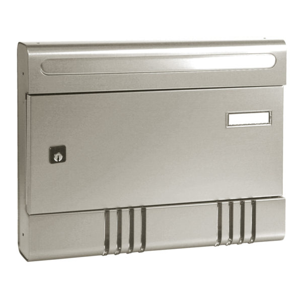 Aluminium finish letterbox for flats Sire