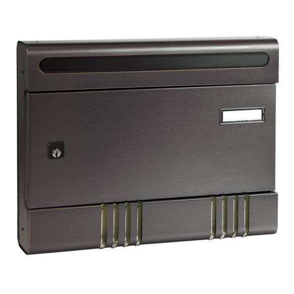 Dark grey apartment letterbox Sire