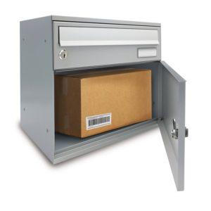 Front Access open view wall mounted Easybox parcel door open