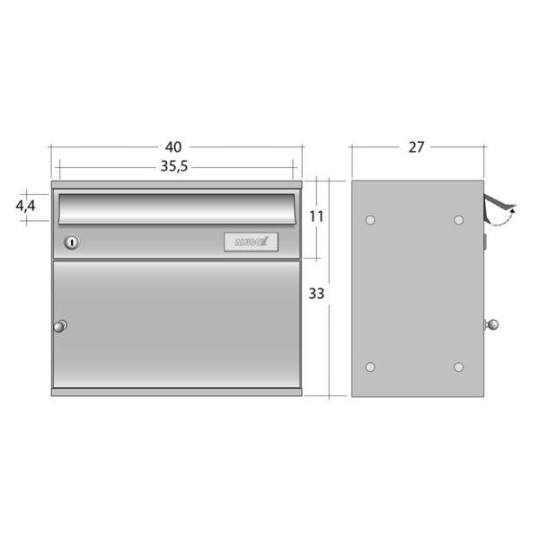 diagram view of easybox parcel box