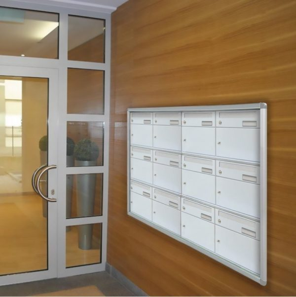 recessed wall mounted easybox bank 8 parcel box