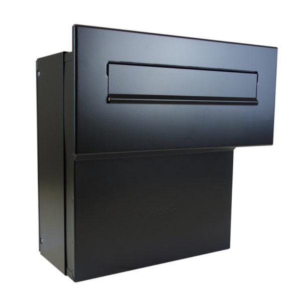 LFD-041 large adjustable letterbox shown in black