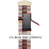 Stamford Through the Wall letterbox 1.5 brick diagram