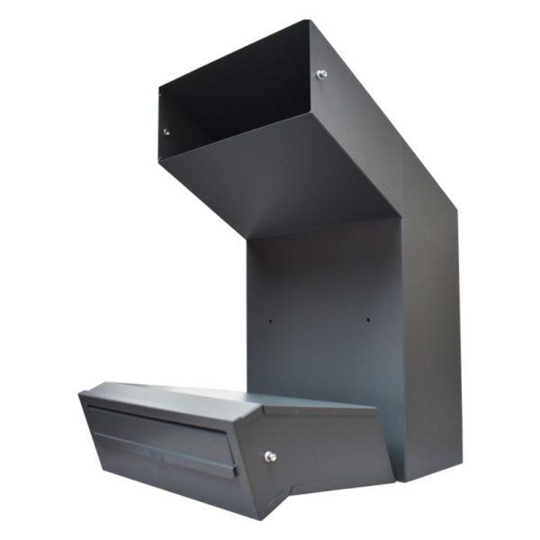 Rolle dark grey adjustable large letterbox