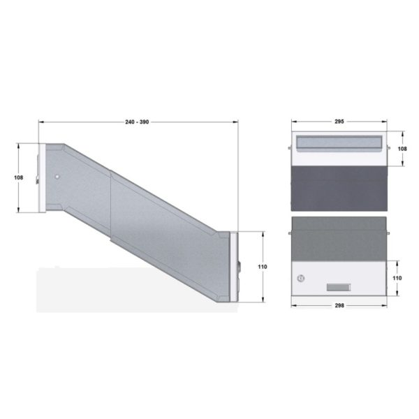 SM all views adjustable through the wall diagram