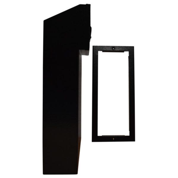 W3 TRIM REAR ACCESS LETTERBOX BLACK SIDE VIEW