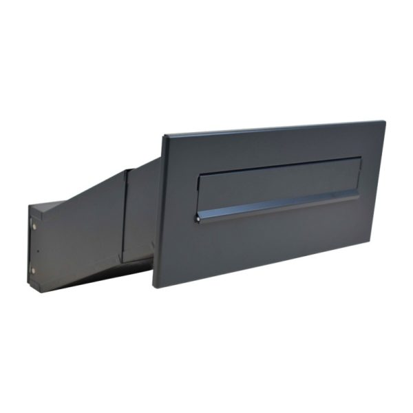 LDD-041 ral7016 though the wall letterbox telescopic mail chute