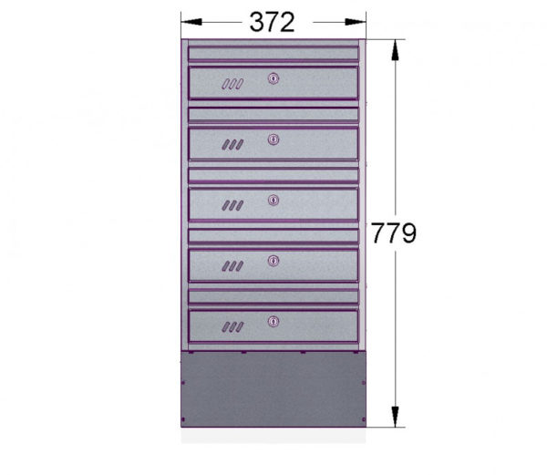 E1S_5 diagram letterboxes for flats