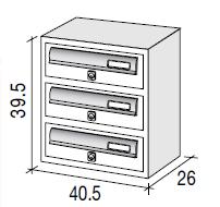 JUMBO3 diagram communal letterbox