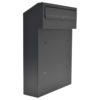 w3 - dark grey gate mounted letterbox