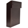 w3 - copper gate mounted letterbox