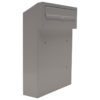 w3 - white gate mounted letterbox