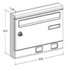 S2001ER wall mounted letterbox diagram