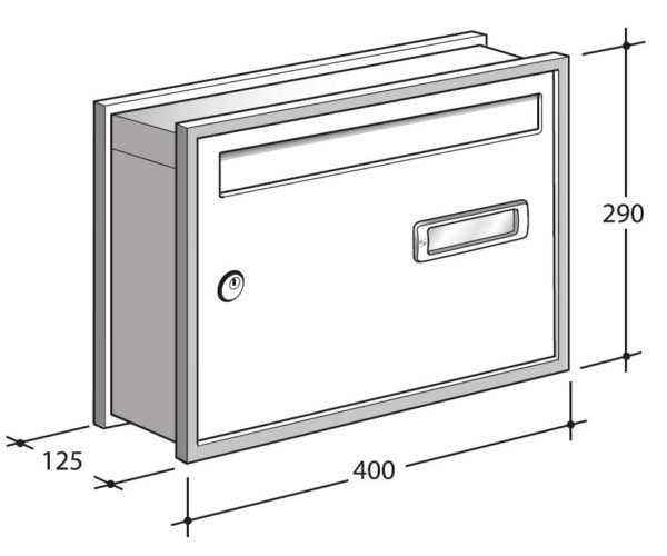 open air diagram wall mounted communal letterbox
