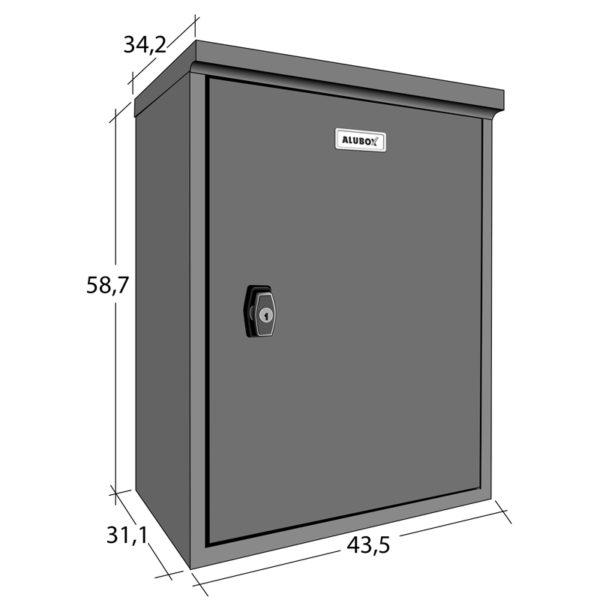 Paccobox XL-Parcel Box Dimensions Drawing