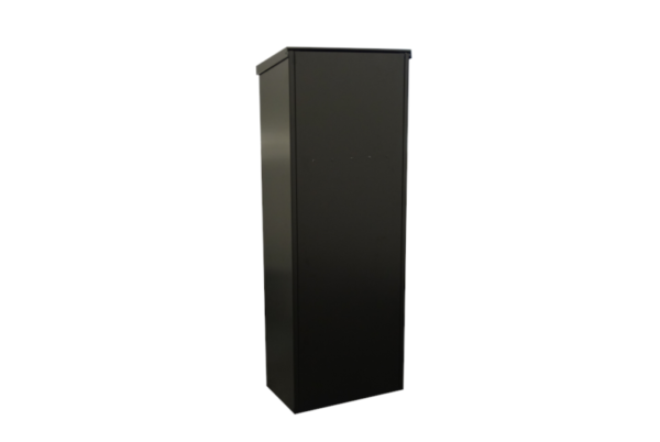 Zeta Free standing black parcel box in black- rear view