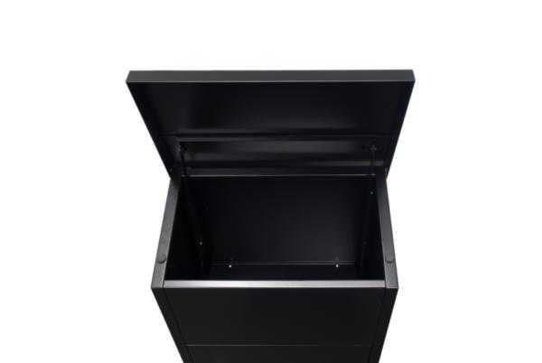 Zeta Free standing external parcel box - View inside lid