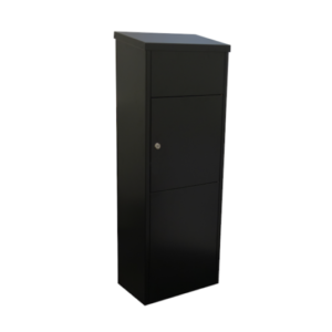 Zeta Free standing large secure external parcel box - black