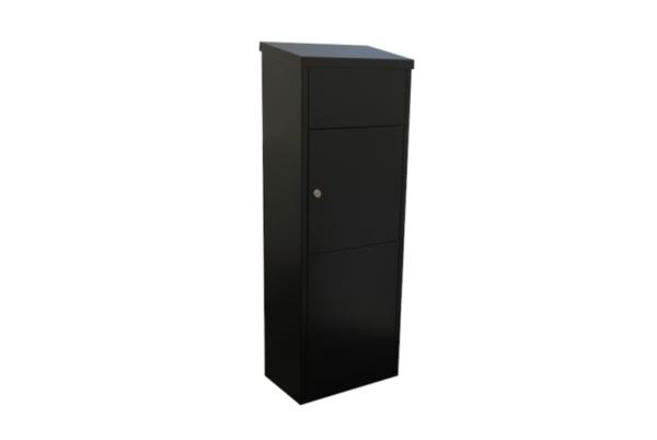 Zeta Free standing large secure external parcel box - black