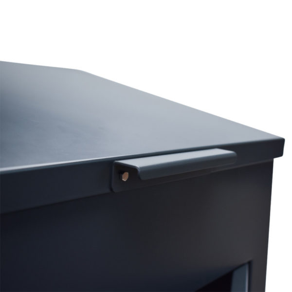 Delta XL High Capacity parcel box with close up of optional handle