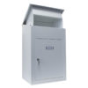 Delta XL Secure wall mounted parcel box in white front view with lid open