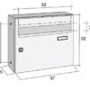 Giove wall mounted letterbox drawing with dimensions
