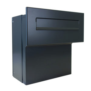 Large through the wall leterbox LFD-04 in dark grey