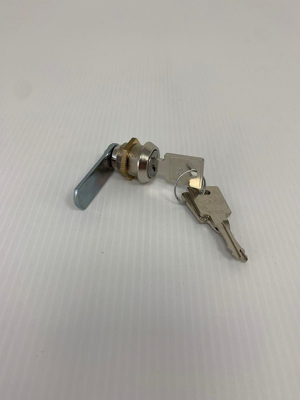 Replacement lock for Zeta parcel box shown with 3 keys