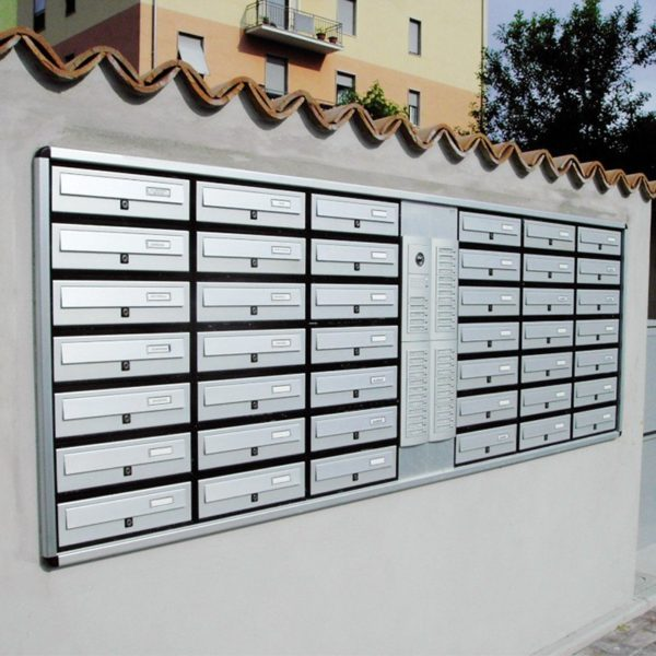 Recess mounted Modular 270 post boxes for flats
