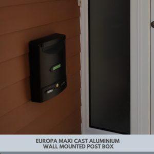 cast aluminium wall mounted post box