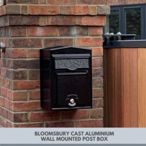 wall mounted post box made of cast aluminium