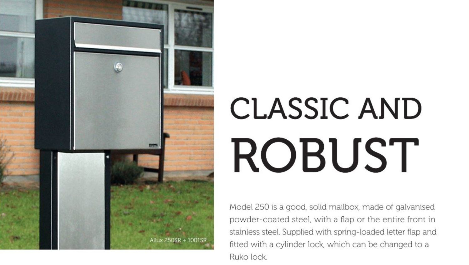 Allux 250 Wall mounted post box