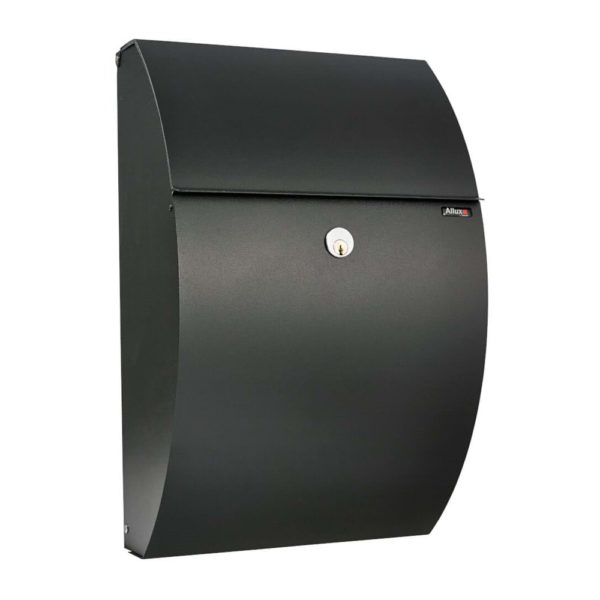 wall mounted post box in black