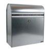wall mounted galvanised steel post box