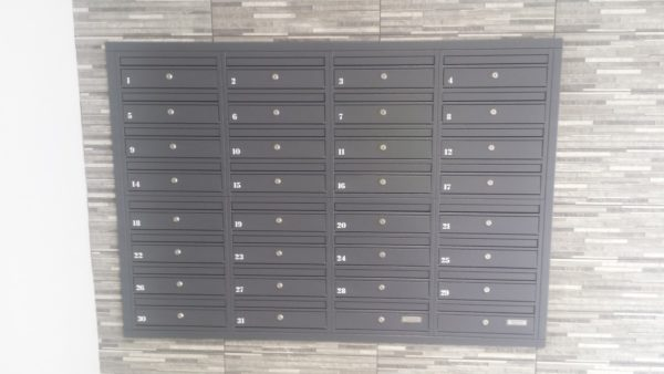 Recessed mounted letterboxes E1