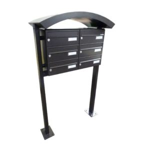 City Hall LBD-015 Free Standing Powder Coated Post Boxes For Flats Black
