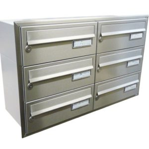 City Hall LBD-015 Stainless Steel Recess Mounted Letterboxes